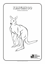coloring pages animals antelopine kangaroo coloring page