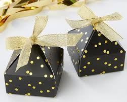 favor boxes black gold foil pyramid shaped favor box set of 24 sweet