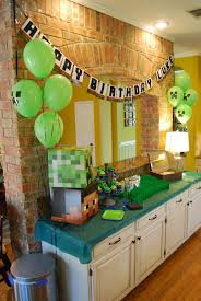 minecraft birthday party momfessionals luke s minecraft birthday party