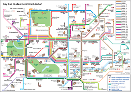 Transport Map Official Map Key Bus Routes In Central London Transit Maps