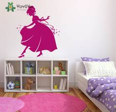 online get cheap princess wall decal aliexpress com alibaba group princess wall decal vinyl wall stickers for kids rooms girls room cinderella home decor kids nursery removable art mural sy127
