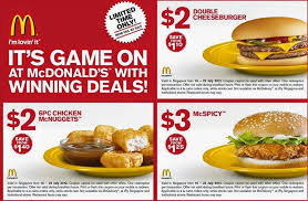 printable mcdonalds coupons for august mcdonald u0027s coupons