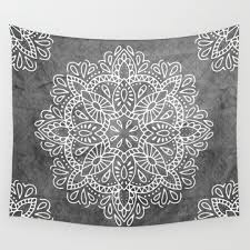 Cute Wall Tapestry Black White And Pattern Wall Tapestries Society6