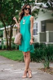 statement necklace with dress images Green shift dress statement necklace alyson haley jpg
