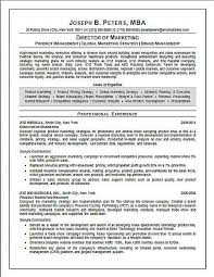 Medical Device Resume How To Write A Personal Marketing Resume Help