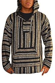 Drug Rug Clothing Amazon Com Mexican Baja Hoodie Pullover Jerga Drug Rug Sweater