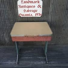 Metal Desk Vintage Vintage Industrial Student Metal Desk American Seating Ebay