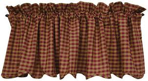 Country Plaid Valances Window Treatments Collection On Ebay