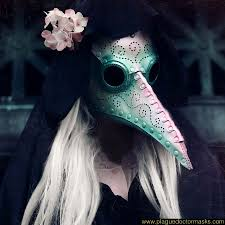 plague doctor mask plague doctor mask for women pearlescent white pink green