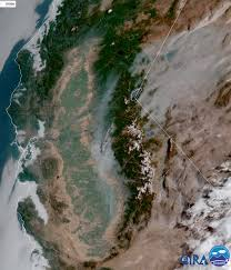 California Wildfire Smoke Map by Lake Tahoe Basin Under Air Quality Alert Dense Smoke Advisory As