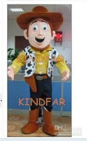 Cowboy Halloween Costume Woody Mascot Costume Happy Cowboy Halloween Party Size