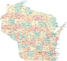 United States Road Map With Cities wisconsin road map