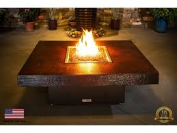 large fire pit table cooke rectangular fire pit table large copper fire pit table