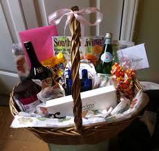 birthday baskets for birthday basket i put together this gift basket for my