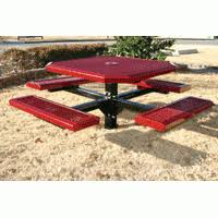 Picnic Benches For Schools Picnic Tables Aluminum U0026 Polycoated Playground Amenities