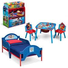 paw patrol kids table set nick jr paw patrol bedroom set with bonus toy organizer multicolor