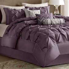 Plum Bed Set Piedmont Plum 7 Pc Comforter Bed Set