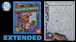 mindware color counts tropical coloring book frogs extended