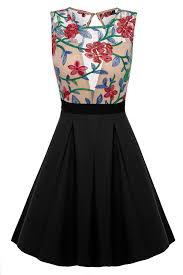 amazon com acevog women floral mini skater dress see through