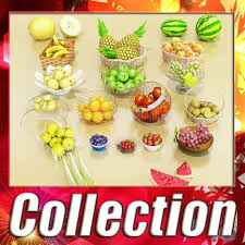 Fruits Baskets Photorealistic Fruits Basket Collection 3d Cgtrader