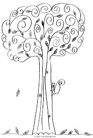 coloriage arbre 4 saisons
