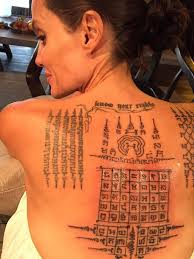 thai monk gives angelina jolie painful tattoos u0027binding her u0027 to