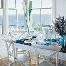 Aqua Dining Room Coastal Home Inspirations On The Horizon Coastal Dining Rooms