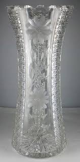Antique Lead Crystal Vase Emporio Armani Classic Watch Cut Glass Glass And Crystals