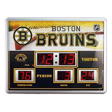 Boston Bruins Home Decor Boston Bruins Scoreboard Clock Wall Clocks Amazon Canada