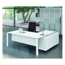 bureau d angle verre bureau x7 avec plateaux en verre blanc officity bureaux de direc