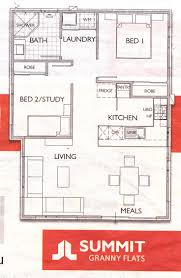 Granny Flat House Plans Flooring The Olley Bedroom Granny Flat Pre Pods Floor Plans
