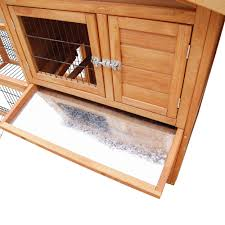Rabbit Hutches And Runs Large Rabbit Hutch Chicken Coop Ferret Cage Hen Chook House 2