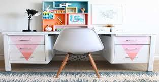 bureau repeint repeindre un meuble bureau en métal style bureau industriel