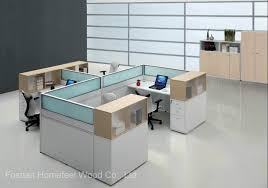 china modern wooden staff computer desk office cubicle hf sid069