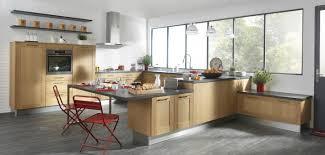 cuisine chene massif moderne cuisine chene clair moderne cool meuble de cuisine chne clair