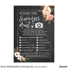 rustic wedding photo scavenger hunt i spy game card wedding