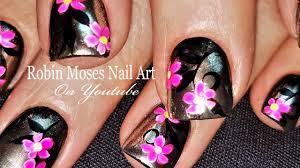 neon polka dot french nail art tutorial silver w pink neon daisy nails diy chrom nail art design