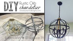 Diy Rustic Chandelier Diy Rustic Orb Chandelier Utz Designs