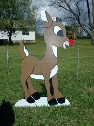 wooden reindeer yard decorations for sale wooden reindeer yard