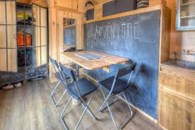 Tiny House Vacations Cool Rustic Tiny House Combines Chalkboard Wall And Murphy Bed