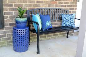 Garden Treasures Patio Bench Adding Curb Appeal To Our Home With Lowes