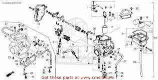 honda trx250 fourtrax 250 1985 f usa carburetor schematic