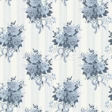 vintage rose wallpaper pattern vector background in blue vector