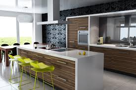 contemporary modern kitchen designs with yellow chairs home