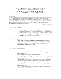 Resume Sample With Summary by Example Artist Resume With Bethany Trotter And Objective Plus