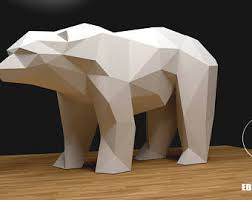 Bear Decorations For Home Giraffe Xxl Papercraft 3d Papercraft Build Your Own Low