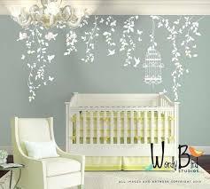 Nursery Wall Decoration Ideas Outstanding Baby Wall Decor Hanging Vines Wall Decal For Baby