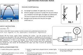 day switch light sensor switch automatic light switch