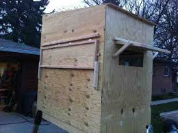 Deer Hunting Box Blinds Plans Pictures And Plans For Box Blind Michigan Sportsman Online