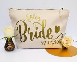 bridal party makeup bags gift personalised cosmetic make up bag bridesmaid